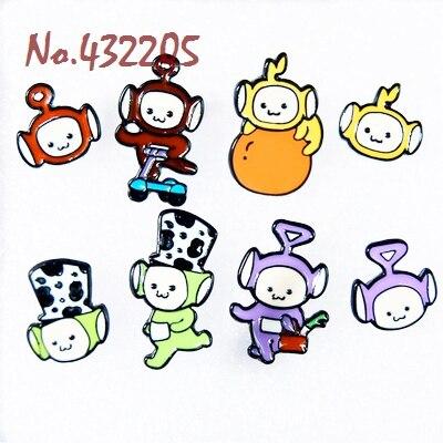United Kingdom Cartoon Antenna Baby Bb Cartoon Earrings Toys Cute