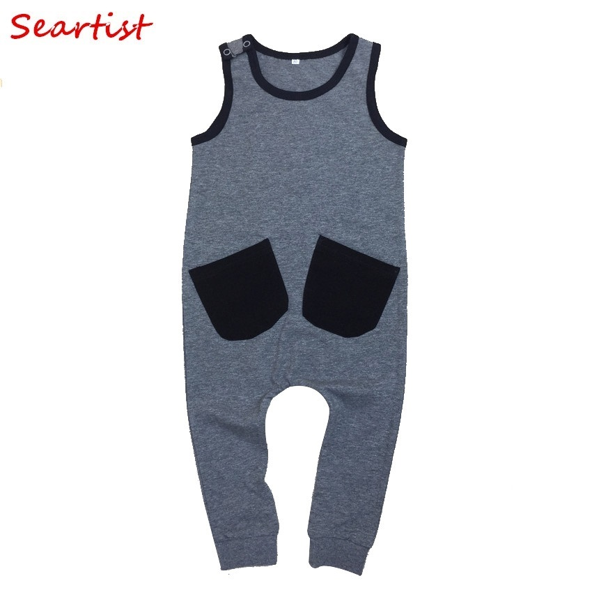 Seartist Baby Girls Boys Summer Romper Boy Sleeveless Harem Jumper Kids Tank Jumpsuit Baby Boy Girl Clothes Overalls 2 7Yrs 40C in Rompers from Mother Kids