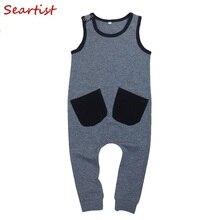 Seartist Baby Girls Boys Summer Romper Boy Sleeveless Harem Jumper Kids Tank Jumpsuit Girl Clothes Overalls 2-7Yrs 40C