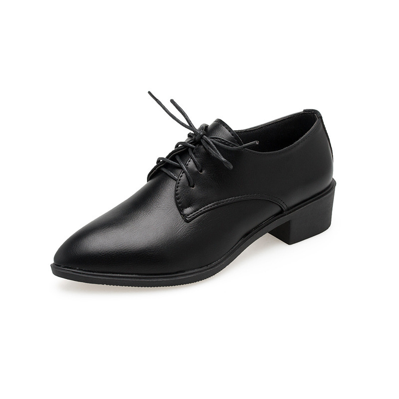 Women Shoes Female Pumps Pointed-Toe High-Heels Lace-Up Spring/autumn Med Work Thick