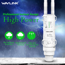 Wavlink N300 High Power Outdoor Weatherproof 30dbm Wireless Wifi Router/AP Repeater/Extender 2.4G 15KV Outer Detachable Antenna(China)