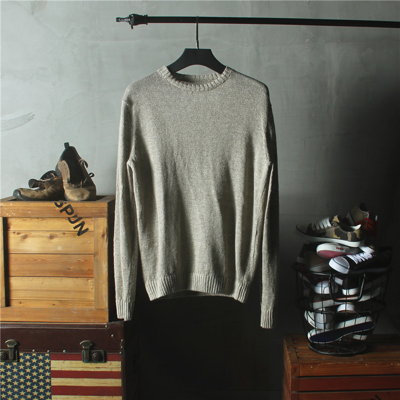 Sweater Men 2018 New Arrival Casual Pullover Men Autumn Round Neck spring and autumn thin hollow hollowed sweater Plus Size