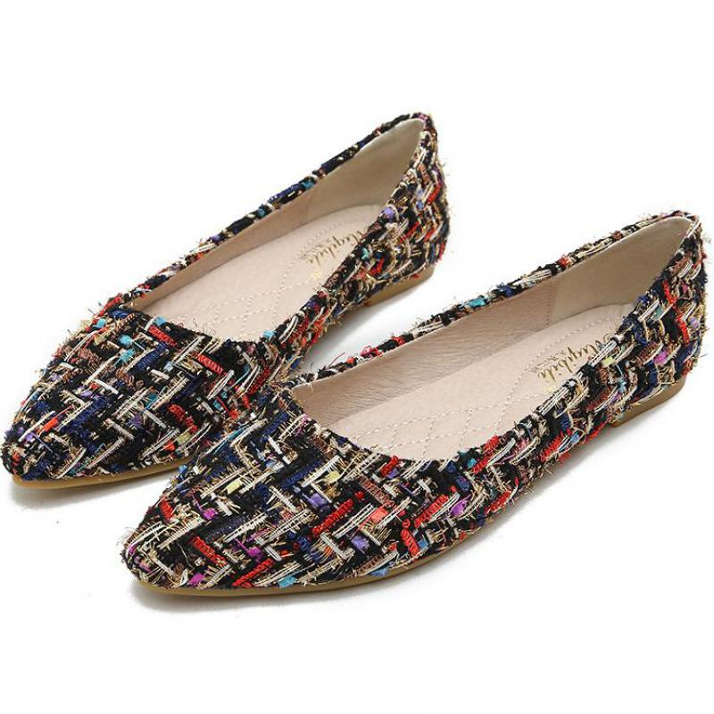 Womens Loafers Sequin Slip On Flats Leisure Fashion Driving Boat Shoe Straps New