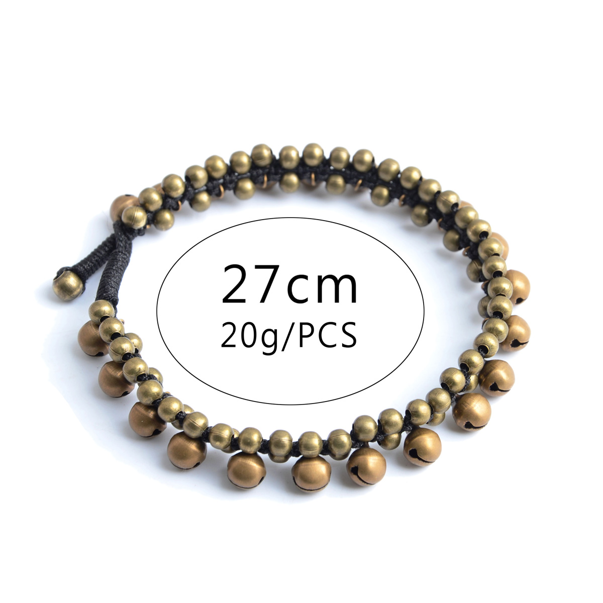 Vintage Boho Bracelet Foot Jewelry Pulseras Retro Jingle Bell Anklet Women Girl Ankle Leg Chain Charm Bracelet Fashion Jewelry