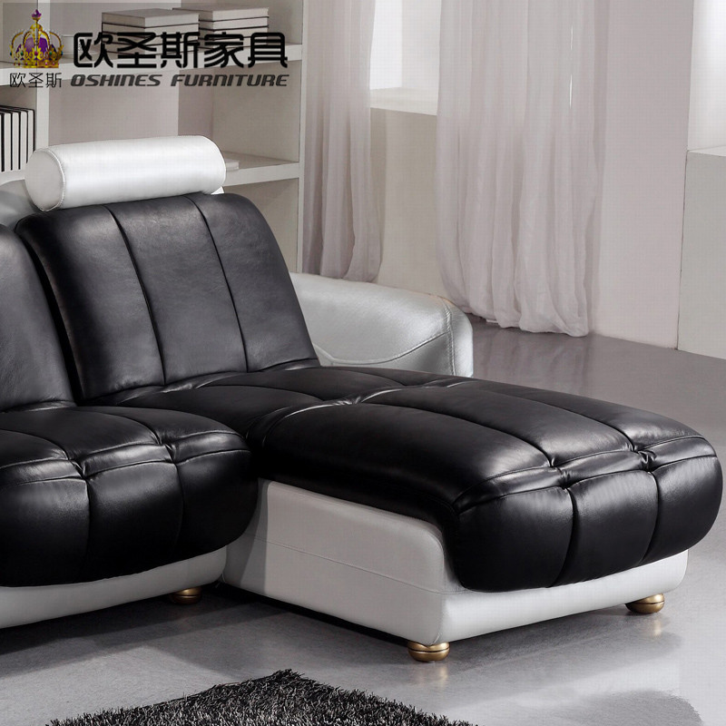 Latest L Shaped Sofa Designs Black And White Two Color 2016 New
