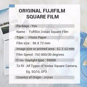 Image 5 - Ban Đầu Bộ Máy Chụp Ảnh Lấy Ngay Fujifilm Instax Vuông Trắng Tức Thì Edge Bộ Phim 10 Tấm Cho Fuji SQ10 SQ20 SP3 Lai Định Dạng Máy Ảnh