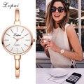 Lvpai złota róża kobiety bransoletki z zegarkiem moda luksusowe zegarki kwarcowe marki panie na co dzień strój sportowy zegarek zegar Dropshiping