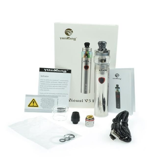 , Yiousi V5 vape pen Kit 3000mah battery Electronic cigarette fit 4ml atomizer vaporizer 0.3ohm dual coil vaporizer smoke pen kit