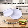 1 stück DIY Hamburger Fleisch Presse Werkzeug Patty Makers Fleisch Burger Maker Mold Food Grade Kunststoff Hamburger Presse Burger maker Hackbraten-in Bratlingformer aus Heim und Garten bei