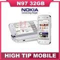 Бренд Nokia N97 100% Первоначально Открыл мобильный телефон GPS 3 Г WI-FI 5-МП КАМЕРОЙ 32 ГБ встроенной памяти Восстановленное Бесплатный доставка