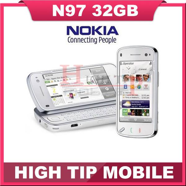Marca Nokia N97 Original del 100% Abrió El teléfono móvil del GPS 3G WIFI 5mp 32 GB de memoria interna Reformado Envío gratis