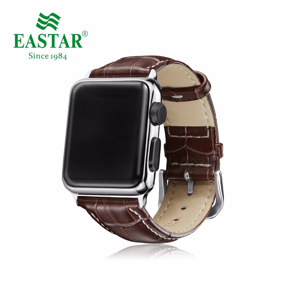 Eastar Hot Sell Leather Watchband for Apple Watch Band Series 3/2/1 Sport Leather Bracelet 42 mm 38 mm Strap For iwatch Band цена