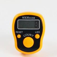 Мини-маркер для стежков и светодиодный счетчик для пальцев, цифровой счетчик для шитья, инструмент для плетения