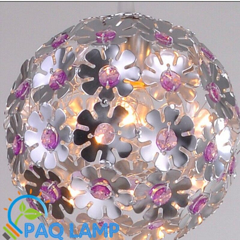 modern lamps pendant lights diameter 25cm Aluminum crystal plum ball bedroom restaurant LED lighting hanging LED light fixtures modern brief crystal pendant light lamps diameter 48 cm free shipping