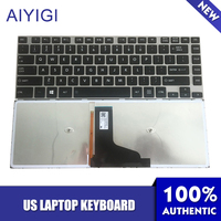 AIYIGI US Laptop Keyboard For Toshiba Satellite E40 E40 A E45T E45T A E45T A4200 E45T A4300 E45T AST2N01 With Backlit