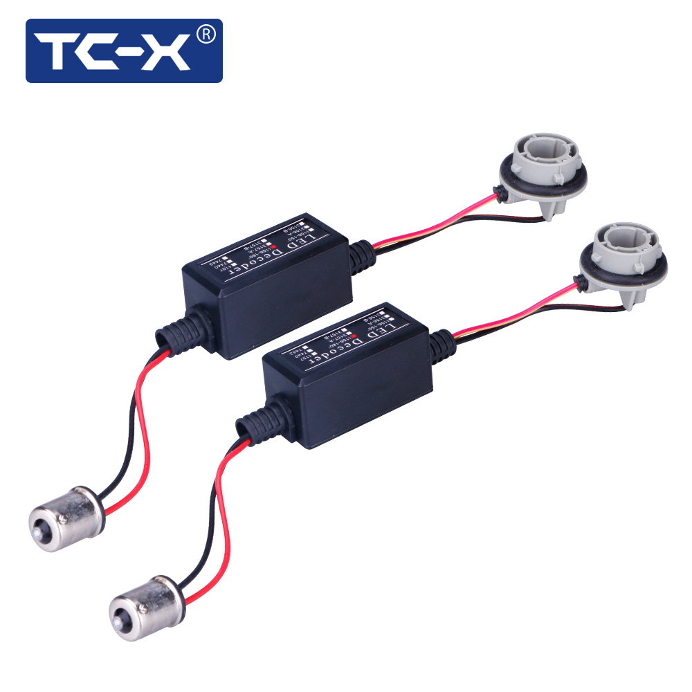 TC-X 2 PCS 1156 Ba15s P21W Canbus Error Free Resistor LED Decoder no more OBC Warning Error Canceller For LED Turn Signal Bulb