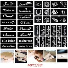 Sun-Airbrush-Stickers Tattoo-Stencil Stencil-Letters Glitter Self-Adhesive Body-Art Paint