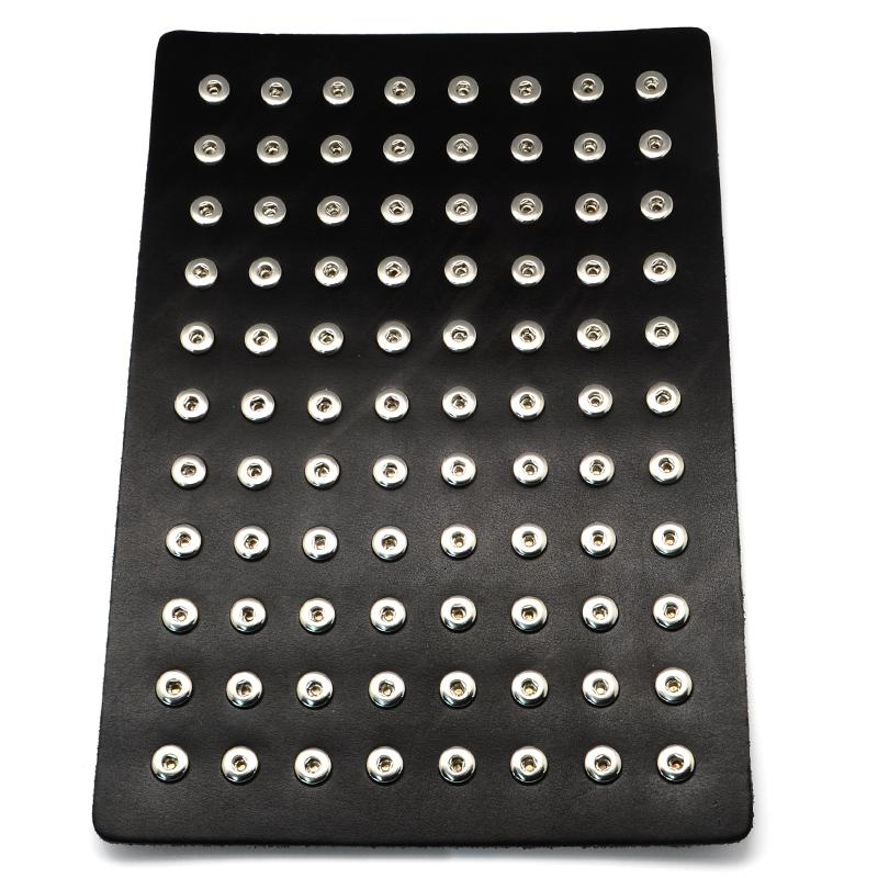 все цены на Leather Spring Snap Display with Brass Snap, Black, 300x210x3mm, Hole: 5mm; Fit Snap Button in 4~5mm knob