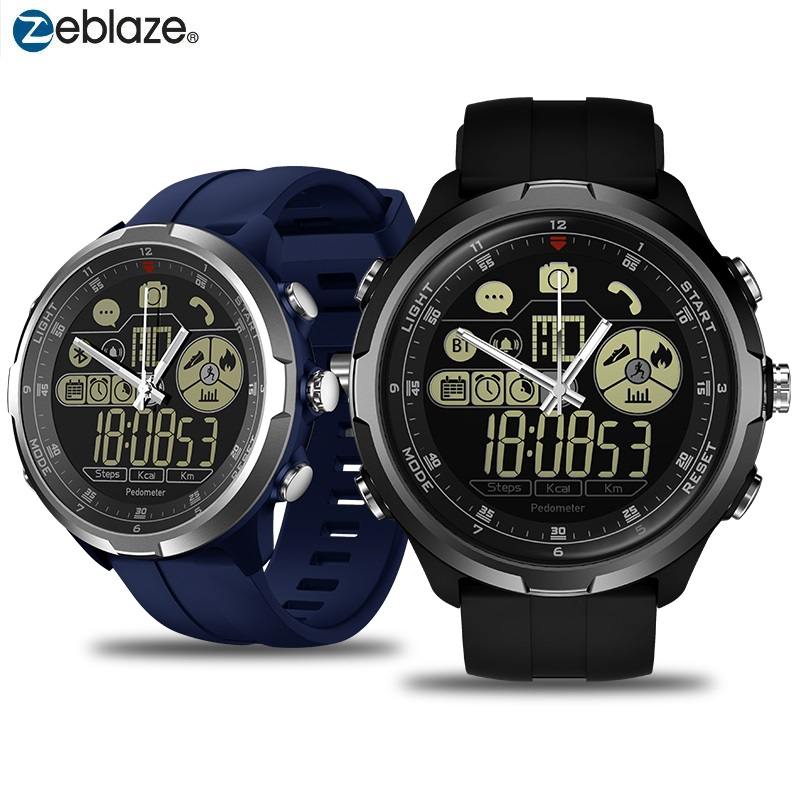 Rugged Hybrid Smartwatch Zeblaze VIBE 4 HYBRID IP68 Waterproof Watch Man Pedometer Call Message Reminder Remote Camera Alarm