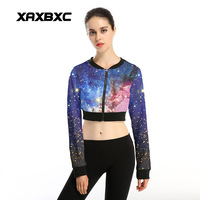 New Arrival 026 Sexy Women Gir Shine Star Blue Galaxy 3D Prints Sport Jogging Suits Short