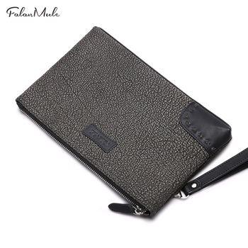 New Fashion Clutch Luxury Wallet Male Leather  Men Clutch Wallets Handy Bags Business Bag Men Wallets Men Can Hold iPad leather