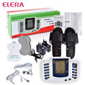 ELERA Electrical Muscle Stimulator Massageador Tens Acupuncture Therapy Machine Slimming Body Massager 4pcs pads & Slippers