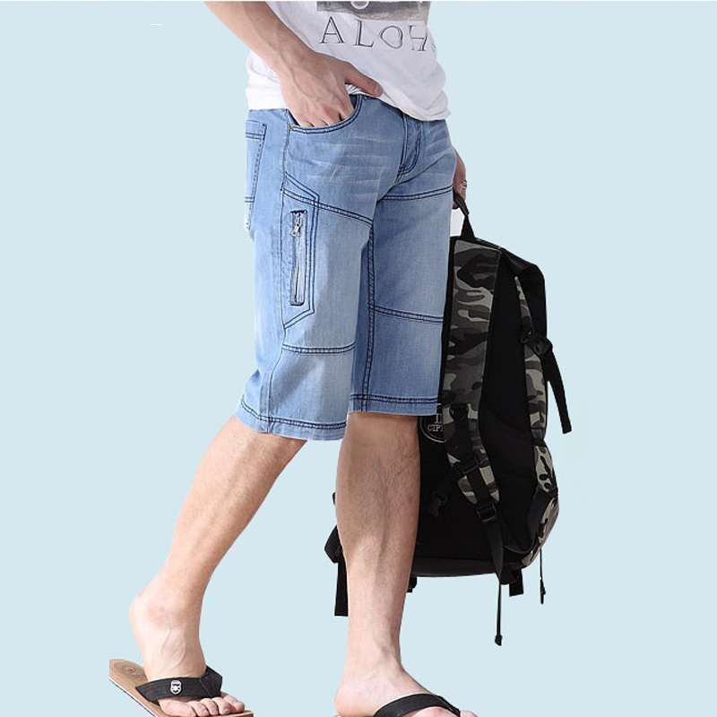 SHORT JEANS MEN New Arrival Summer Style Mens Fashion Shorts Size 38 44 40 42 Denim European Style bermuda Ripped Half Jean Male