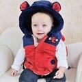IVE 2016 Nova Bebê Outerwear Bebê Elefante Colete Crianças Colete Bonito Crianças Colete IB404