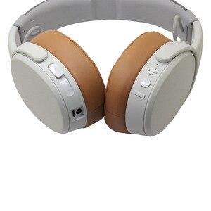 Image 3 - POYATU Ohrpolster für Skullcandy Brecher Bluetooth Drahtlose Kopfhörer Grau/Tan Braun Ersatz Ohr Kissen Ohr pads Tassen Reparatur