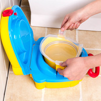 Baby Toilet Cute Baby Potties Children Toddler Travel Small Portable Toilet Outdoor Car Potty Training Seat Toilet for Kids