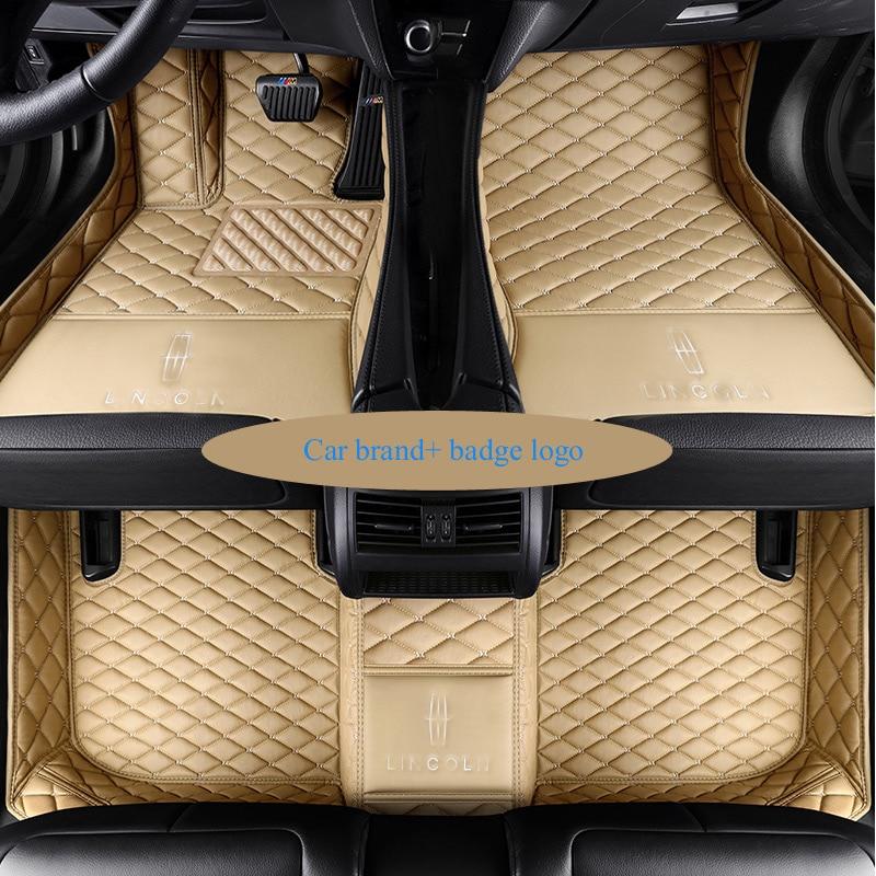 Special custom car floor mats for Kia LOGO Sorento Sportage Optima K5 Forte Cerato K3 Cadenza waterproof leather carpet liners no odor custom waterproof carpets durable rubber car floor mats for kia k2 k3 k3s k5 sportage r sorento 5 seats