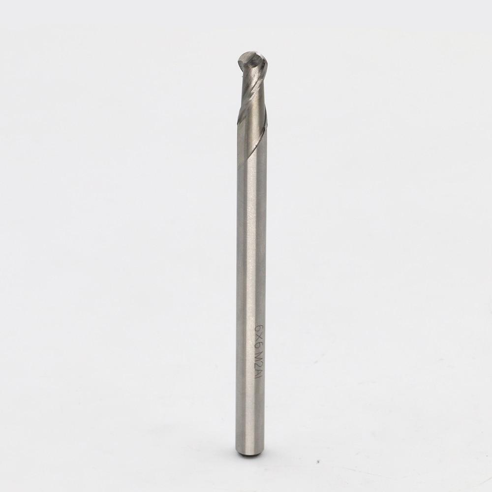 New 4flute M2AI dia 6mm Ball End mills milling cutter machine tool CNC tools Ball Nose Super-hard HSS cutter R3*6*15*90  цены