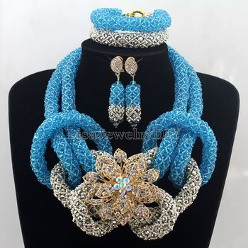 African Jewelry Sets Nigerian Beads Wedding Jewelry Set Bridal Statement Jewelry Set Womens Jewellery Set HD7497