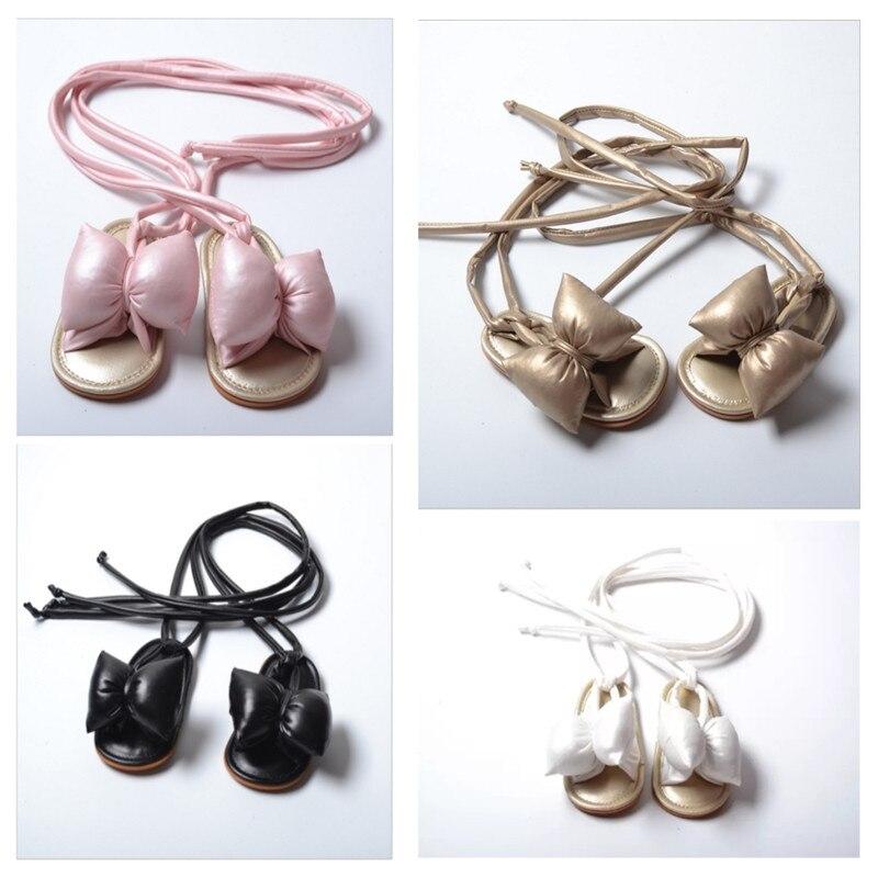 Pudcoco Baby Girl Shoes Kid Princess Sandals Girl Shoes Big Bowknot Baby Kids Beach Newborn Baby Prewalker Shoes Belt Crib Shoes