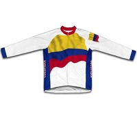 Colombia Flag Winter thermal Cycling Jerseys Men Cycling Clothing Maillot Ciclismo