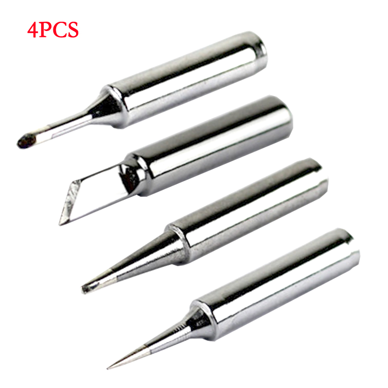 4PCS Soldering Tip 900M-T Applicable To 936/937 And Various Resistance Ceramic Heat Welde High Quality Sting For Soldering Iron