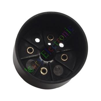 Wholesale and retail 50pc 4pin Bakelite vacuum tube sockets valve base For 274B audio amps DIY parts free shipping