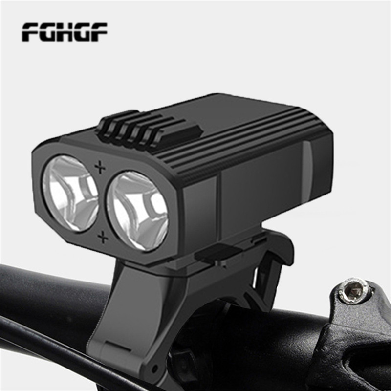 New USB Rechargeable Waterproof Bicycle Light 2 * T6 LED Bicycle Light 4 Ways Mountain Drive Front Bicycle Light