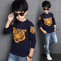 Big Boys Sweaters Cotton Tiger Print Kids Knitted Sweaters For Boys Clothes Children Clothing Autumn Winter Pullover Sweaters