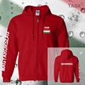 Hungary mens hoodies and sweatshirt polo sweat suit streetwear tracksuit nation fleece zipper flag Hungarian Magyarorszag 2017