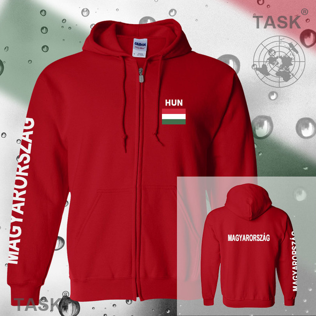 Hungary mens hoodies and sweatshirt polo sweat suit streetwear tracksuit nation fleece zipper flag Hungarian Magyarorszag 2017