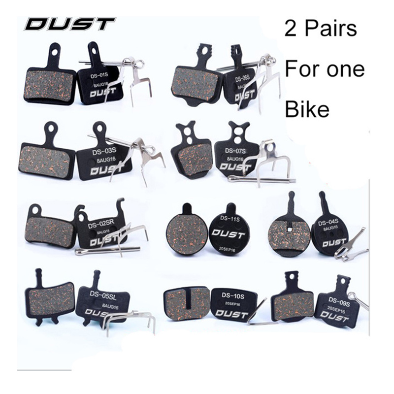 DUST 1 Pairs Bike Bicycle Disc Brake Pads for Shimano Deore XT SLX/Saint/Sram Avid BB5 BB7 Elixir/Tektro Draco/Magura/Zoom5 organic disc brake pads set for shimano xtr xt lx hone deore saint slx