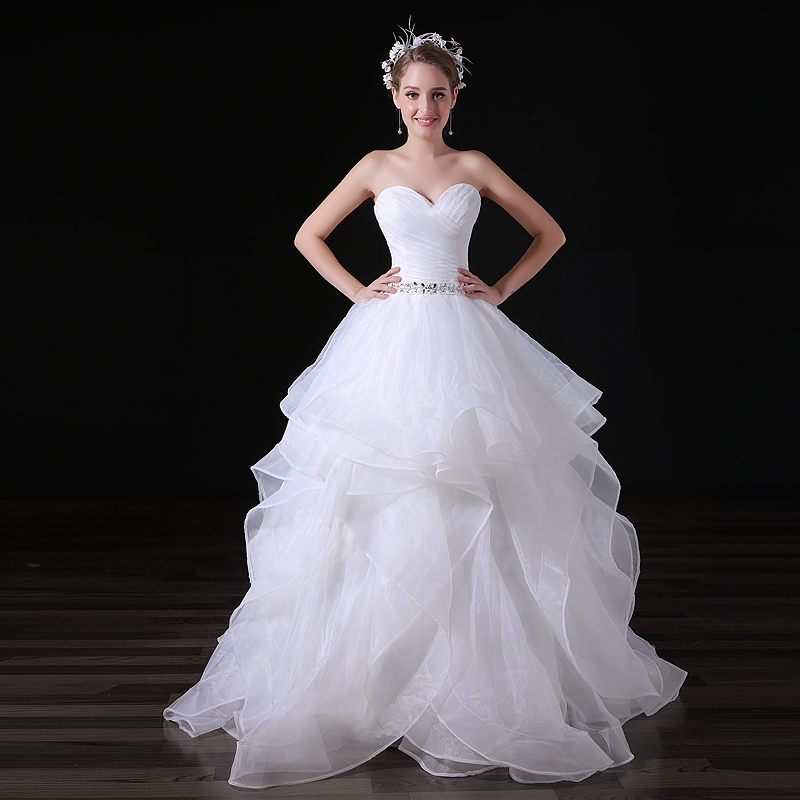 2019 Sexy Illusion Wedding Dresses Satin Sash Tiered Ruffles Custom Made  Plus Size Ball Bridal Gowns 6a2be95c4410