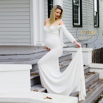 Maxi Long Maternity Gown Cotton Maternity Dress Pregnant Dress Maternity Photography Props Baby Shower Dress Photo Shooting s m l xl maternity dress for photo shoot maxi maternity gown split front maternity chiffon gown sexy maternity photography props