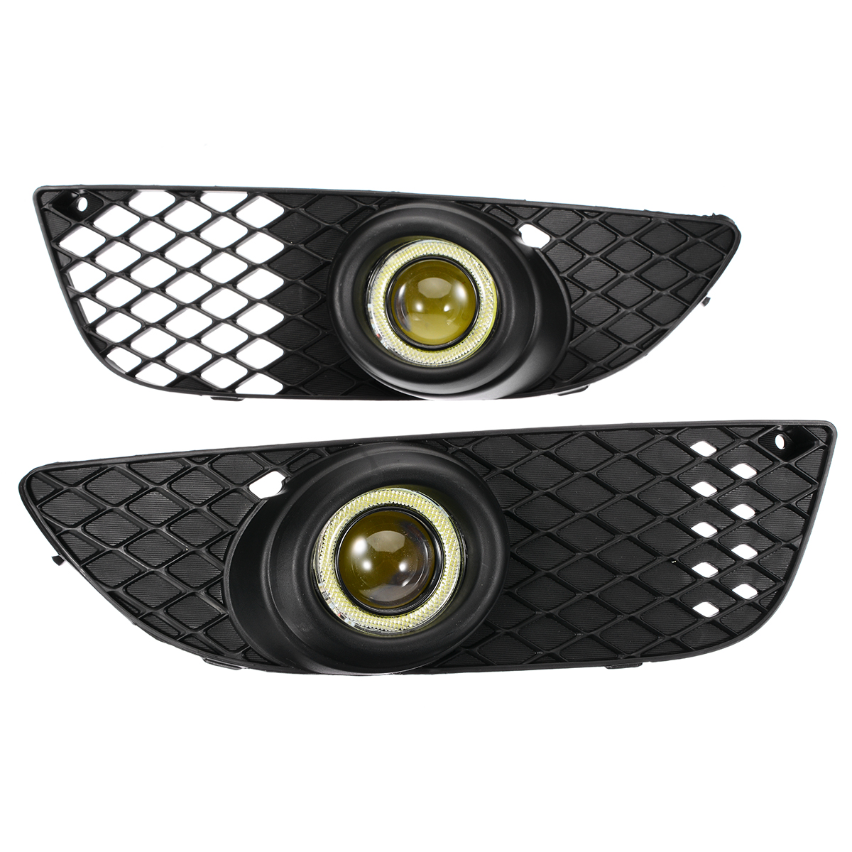 2pcs set Angel Eyes Fog Light Lamp Front Bumper Grille Driving Fog Lamp Cover For Mitsubishi Lancer 2008 2014 in Car Headlight Bulbs LED from Automobiles Motorcycles