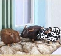 Дома творческих детей игрушки стул изменить Обувь стул Европейская мода стул Коричневая Корова темно коричневого цвета Бесплатная доставк