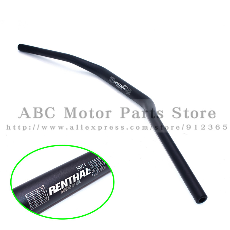 Black Renthal 1 1 8inch Bar 28mm Handlebars Handle Bar For Motorcycle Motocross Pit Dirt Bike ATV KTM CRF YZF KLX RMZ EXC
