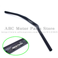 Black Renthal 1 1/8 Bar 28mm Handlebars Handle Bar For Motorcycle Motocross Pit Dirt Bike ATV KTM CRF YZF KLX RMZ EXC