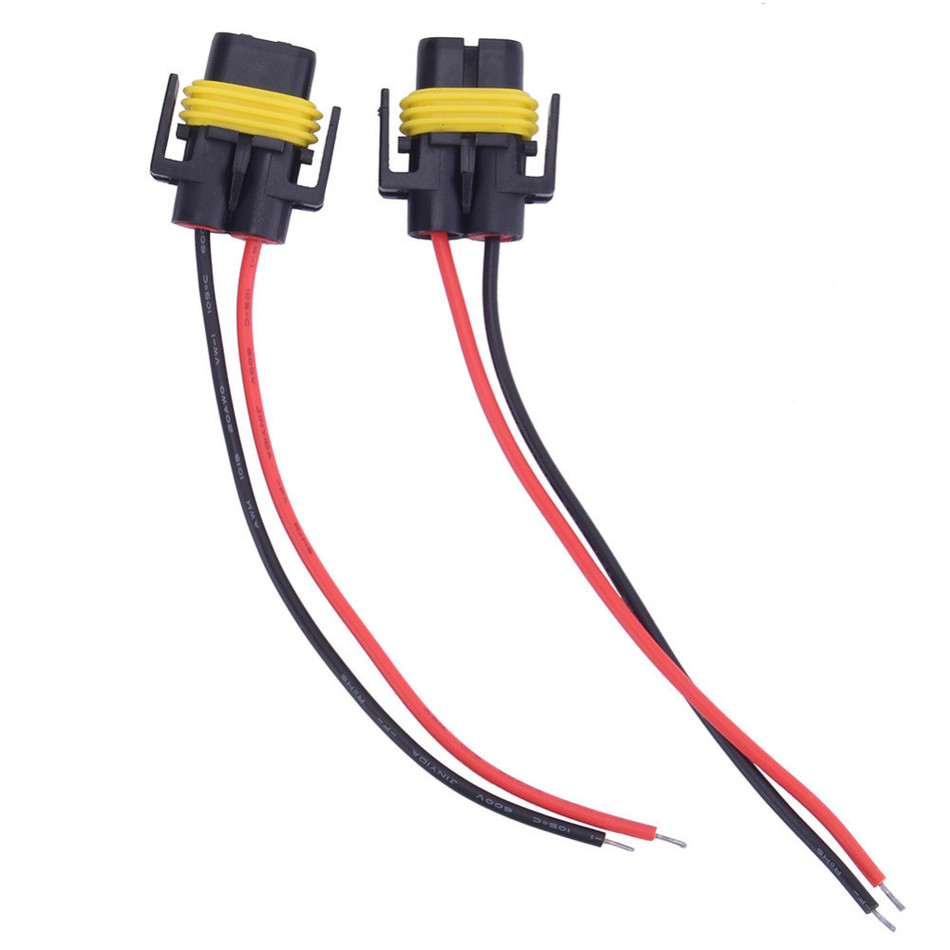 2pcs High quality H11/H8 Female Adapters with Wiring Harness