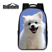 Dispalang Men S 3D Animal Dog Printing School Book Bags Cute Pet Dogs Laptop Backpack For